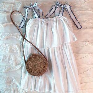 ASOS White Beach Cover-Up Dress w/ Bow Tie Straps